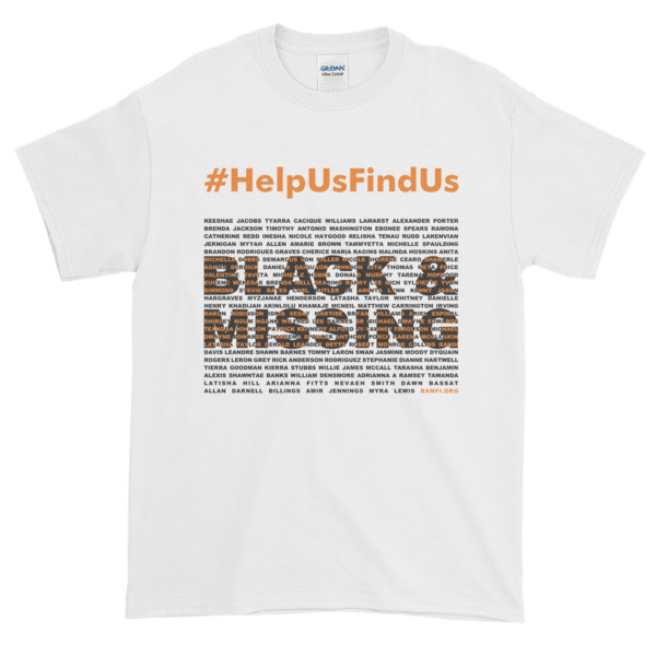 BAMFI Unisex #HELPUSFINDUS Tee, White